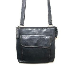 Relic Bags - Relic Leather Crassbody Purse Black S Bag Zippep
